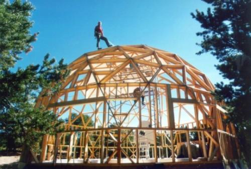 Купольные дома (сферические): геодезический купол