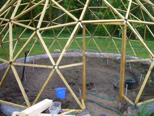 Сборка купольной конструкции