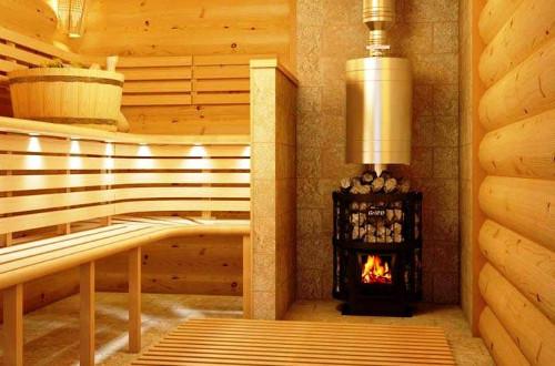 Печка на угле и дровах