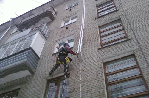 Температурный шов в жилом здании