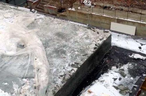 Замерзший бетон
