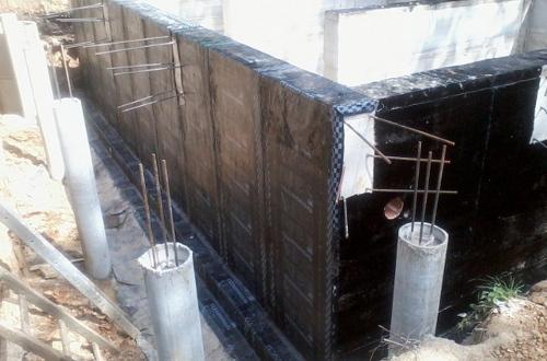 Оклеечная гидроизоляция фундамента