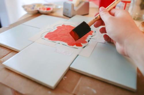 Краска для керамической плитки