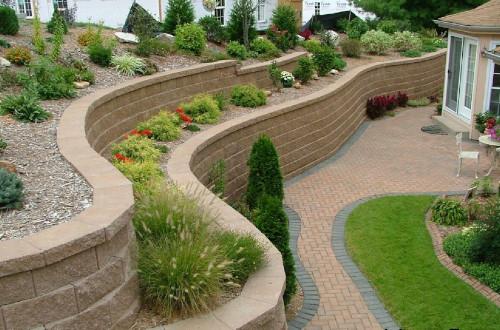 Устройство подпорных стенок в ландшафтном дизайне